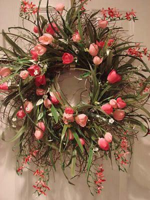 LOVEDesign Inspiration, Spring Flower, Decor Ideas, Doors Decor, Front Doors, Easter Wreaths, Spring Wreaths, Diy Home, Floral Wreaths