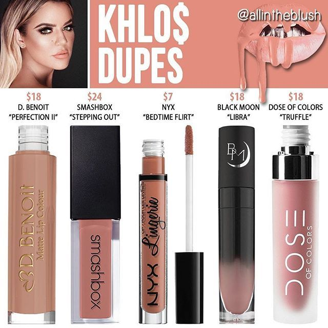 Kylie Cosmetics Koko Collection Khlo$ dupes: Nyx Bedtime Flirt cruelty free