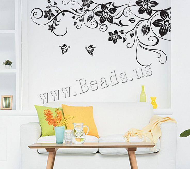 PVC Plastic Wall Stickers, Flower