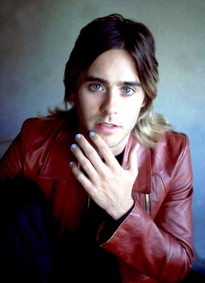 Jared Leto/30 Seconds to Mars - not only is he a monster musician & singer, he is also a terrific actor [Requiem for a Dream, Fight Club, Chapter 27, Prefontaine]; you just cannot ignore those gorgeous piercing blue eyes