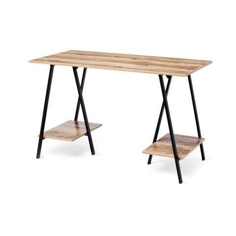 desk Industrial Trestle Kmart.  Option for DESK AREA. This is cute but currently out of stock.