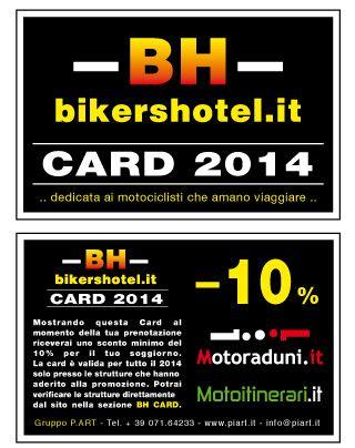 Siamo diventati Bikershotel. Se vuoi soggiornare da noi comunica di avere la #BH Card