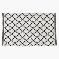 Badematte EVERTSBERG 50x80 hvit/svart