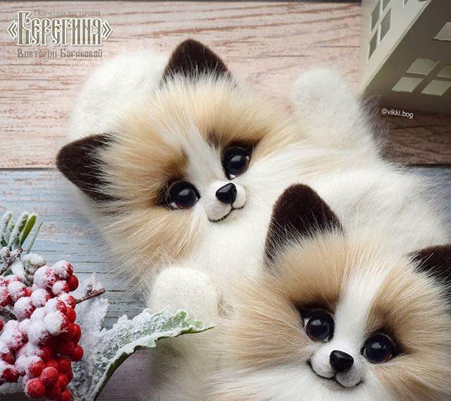 Вот какие милые мордашки получились у новых лисят) они достойны отдельного фото Виктория Богакова🌞Звероварежки on Instagram