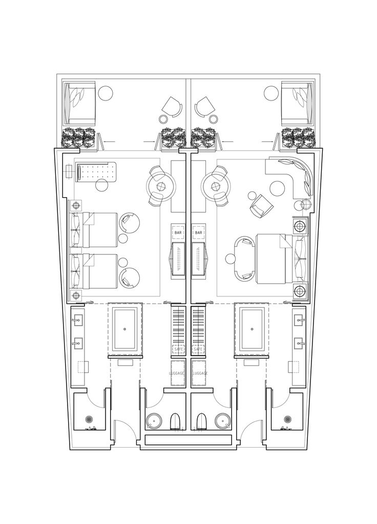 Hotel plan all for plans pinterest plan suite for Plan suite parentale 35m2