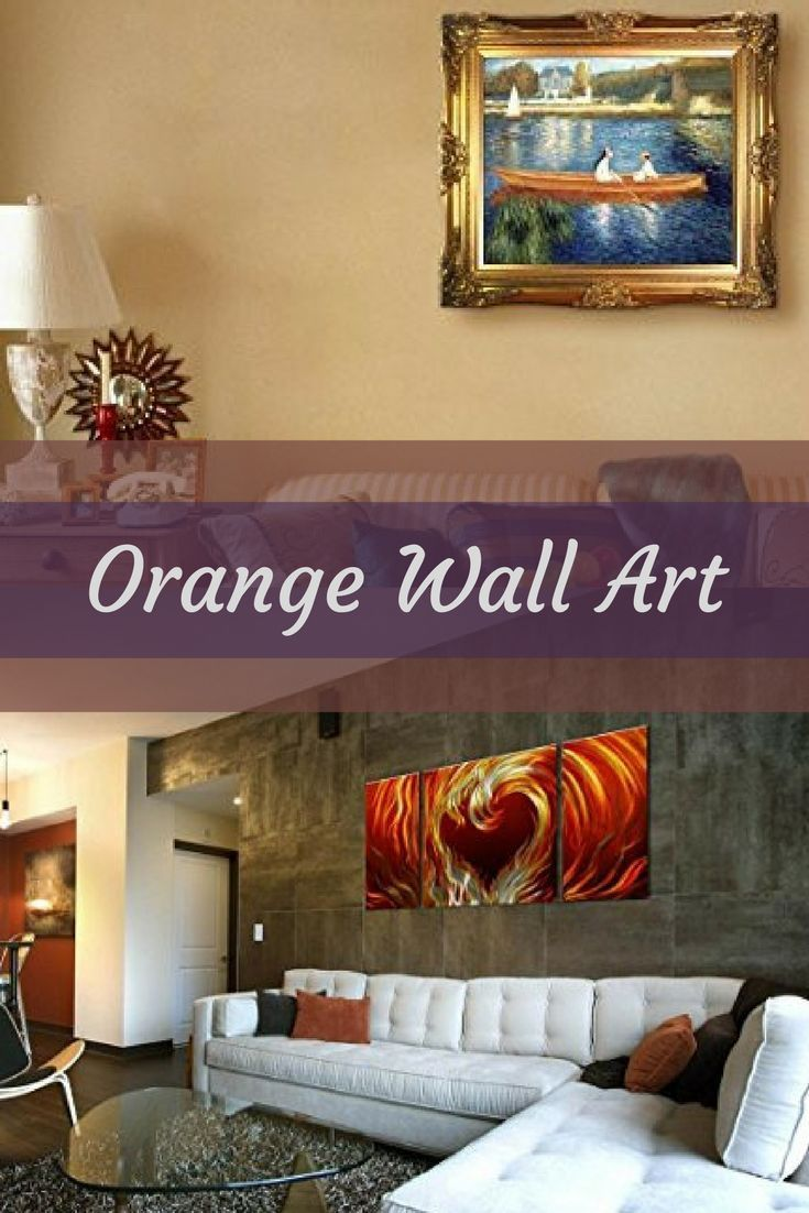 Orange wall art is a vivid, playful and fun way to decorate your home with. Combine orange wall art with orange home décor accents to create a warm and inviting space. Orange wall art creates a bold impression that friends and family will remember. In fact people who live in an orange home décor theme tend to be more adventurous, curious and extroverted.