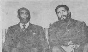 Siad Barre e Fidel Castro (Cuba).