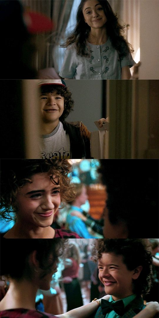 Nancy and Dustin parallels - Stranger Things Season 2 << theyve all come so far and I'm crying