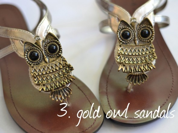 1. A pair of cute, plain sandals. 2. Buy two owl (or any other large pendants) necklaces. 3. Sew pendants to shoes (or just wrap the thread), and voila! A simple way to spice up your summer sandals. alysiabutrym