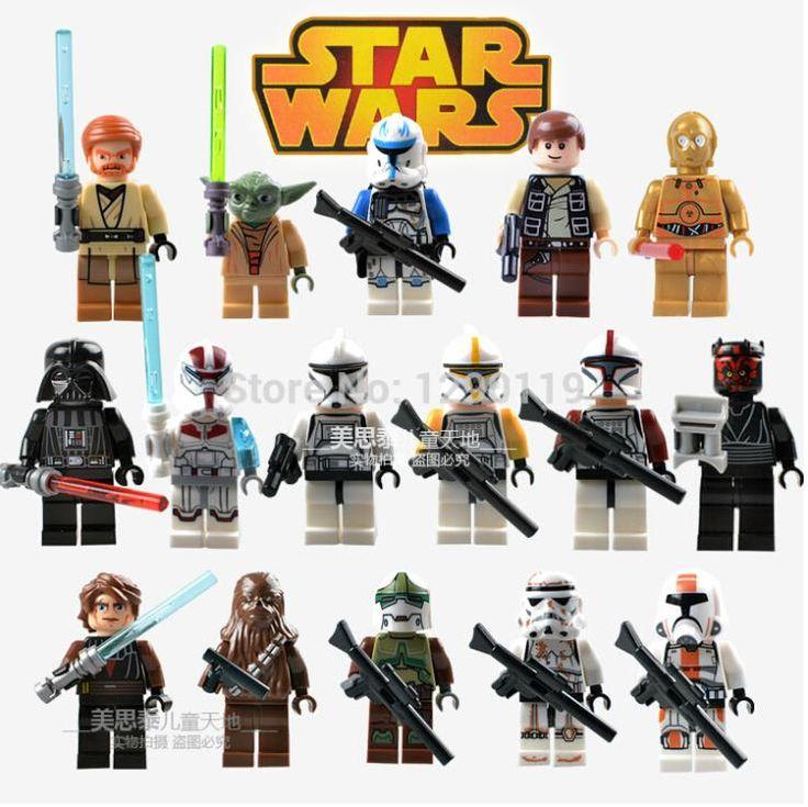 Купить товар16 шт. звездные войны войны клонов солдат десант дарт вейдер C 3PO дарт мол Minifigures Buliding блоки игрушки совместимы с Lego в категории Игрушки и хоббина AliExpress.          Высокий: 4.5 см             1.         Марка:          100% новый, не lego, они 100% подходит и сов