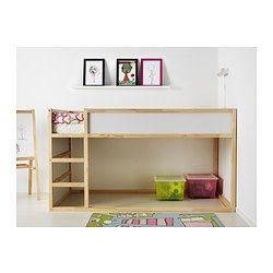 KURA Reversible bed, white, pine Beds and Ikea