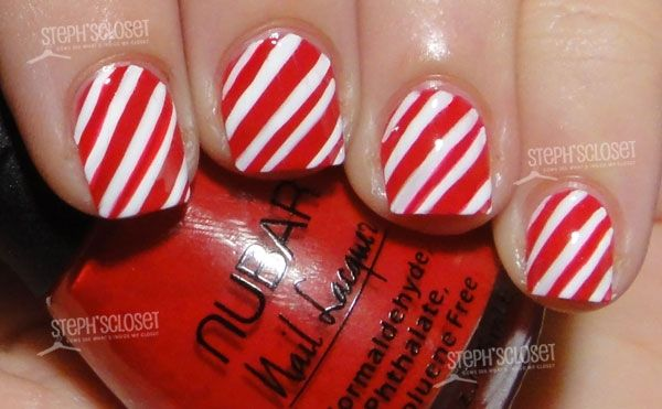 Nails Art Tutorials, Nails Design, Christmas Nails, Candy Canes, Canes Nails, Candies Canes, Xmas Nails, Candies Nails, Stripes Nails