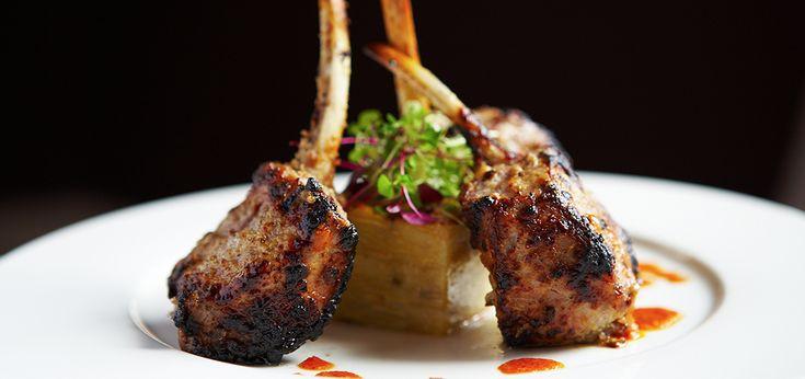 Tandoori spring lamb chops with masala potato gratin recipe
