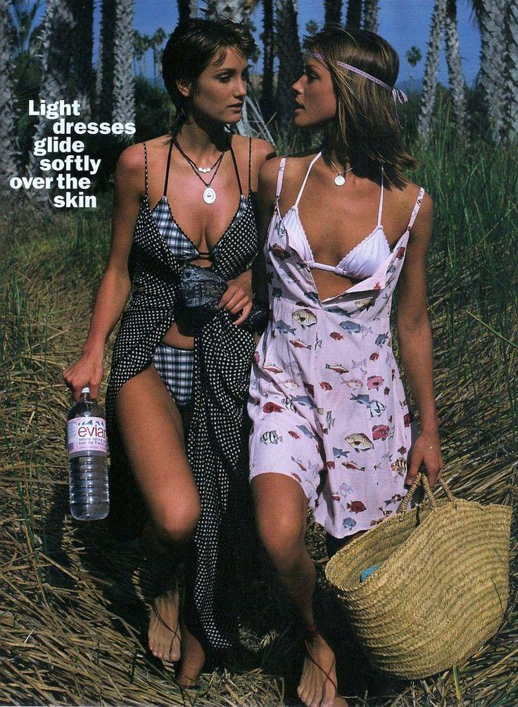 ☆ Manon von Gerkan & Tricia Helfer | Photography by Gilles Bensimon | For Elle Magazine France | August 1993 ☆ #Manon_von_Gerkan #Tricia_Helfer #Gilles_Bensimon #Elle #1993