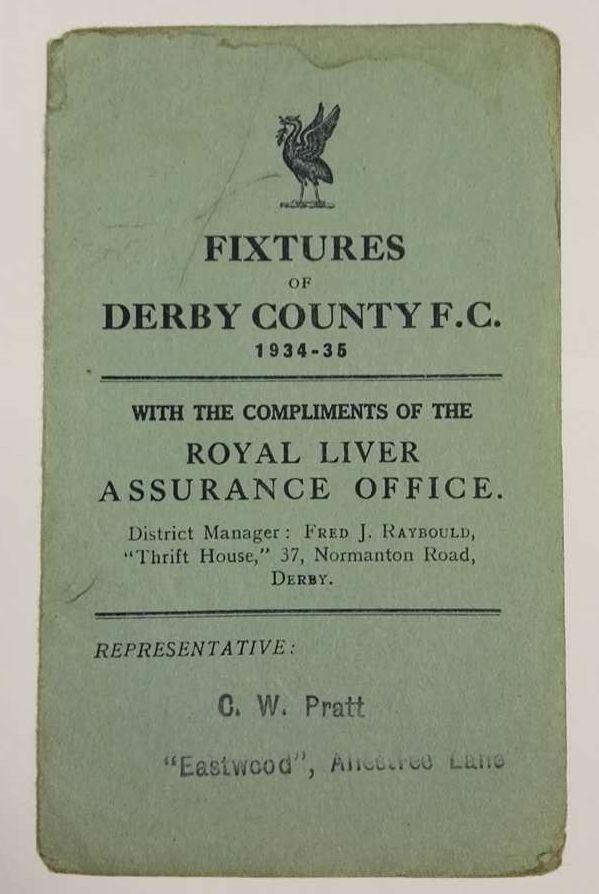 #DCFC fixture list 1934/35