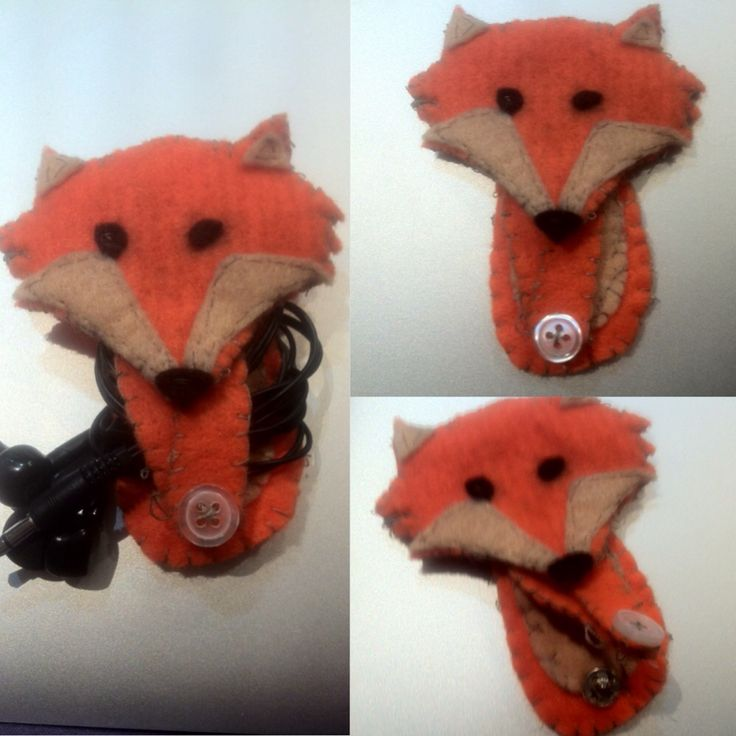 Felt fox earphone holder, first of many crafts for gifts!