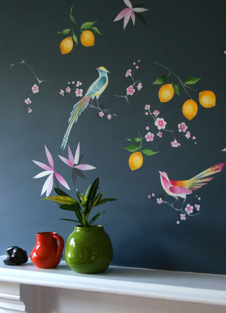 Studio Spelling specialise in hand-painted residential murals with an eclectic style.
