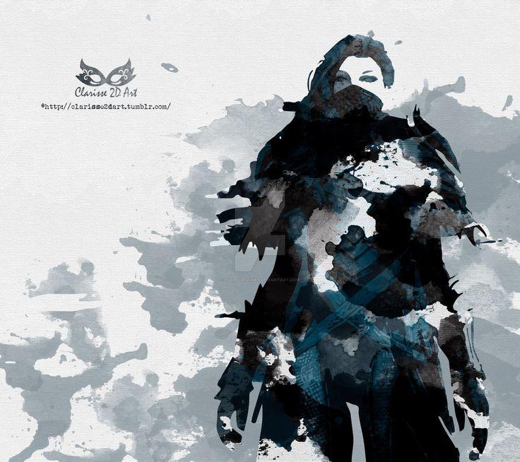 Guild Wars 2 - Fanart: Assassin Watercolour by Clarisse2DArt.deviantart.com on @DeviantArt