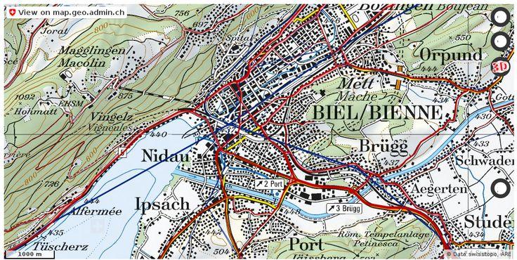 Biel/Bienne BE Verkehr Stau Staumeldungen http://ift.tt/2hsThhr #karten #schweiz