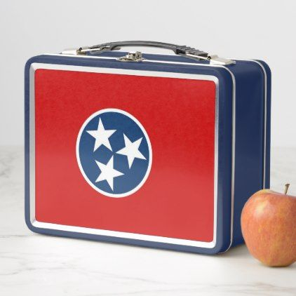Metal Stainless Lunchbox with Tennessee flag - kitchen gifts diy ideas decor special unique individual customized