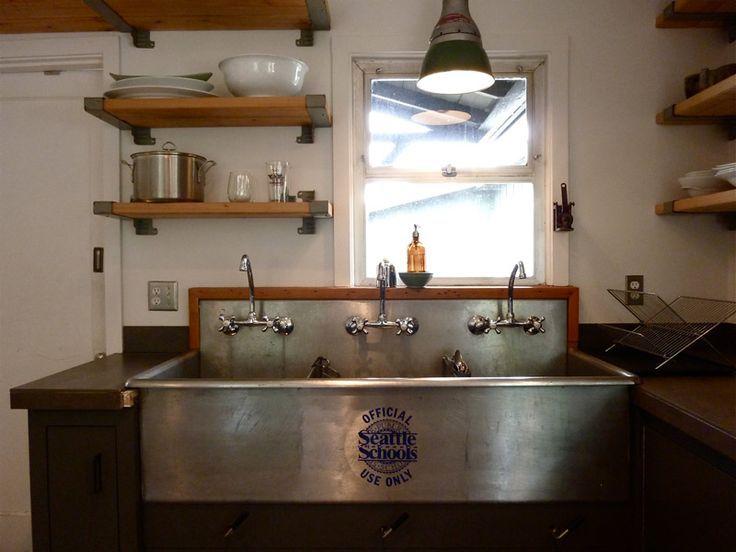 Image result for commercial sink in kitchen
