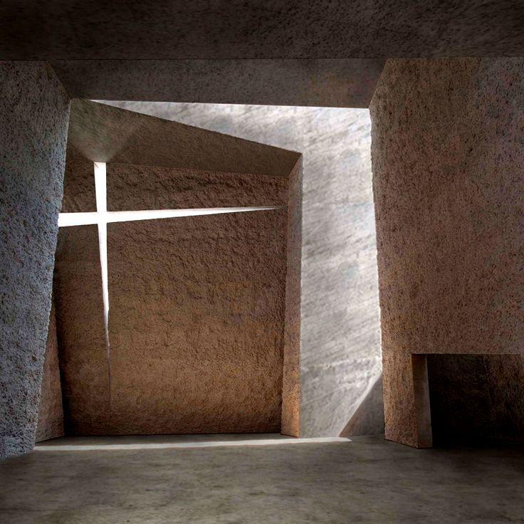A força e a beleza desta igreja, criada em La Laguna, pelos arquitetos da Menis Arquitectos, passa exatamente o que as pessoas precisam ver. Trabalho de muito estilo. #inspiracaoversato