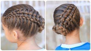 A fun, cool hairstyle! The Zipper Braid by Cute Girls Hairstyles