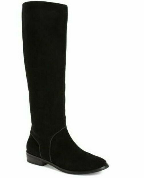 9dd1db6c724 NWOT UGG AUSTRALIA Daley Gracen Black Suede Zip Knee High Boot 8.5M ...