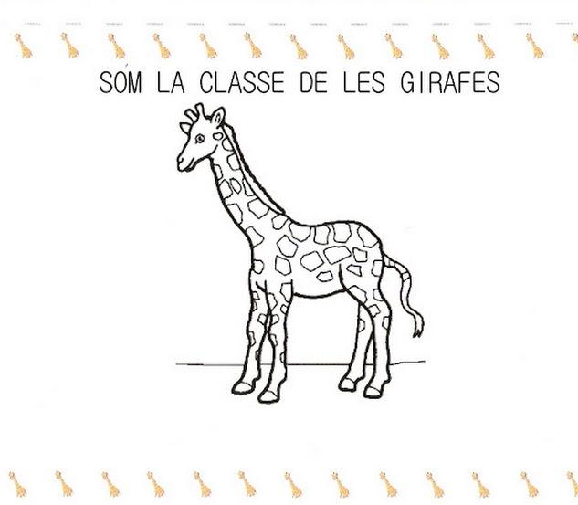 Fitxa Som la classe de les girafes