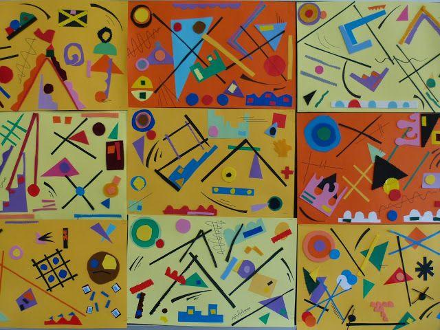 Atelier Kandinsky, een goede manier om restjes papier op te maken!