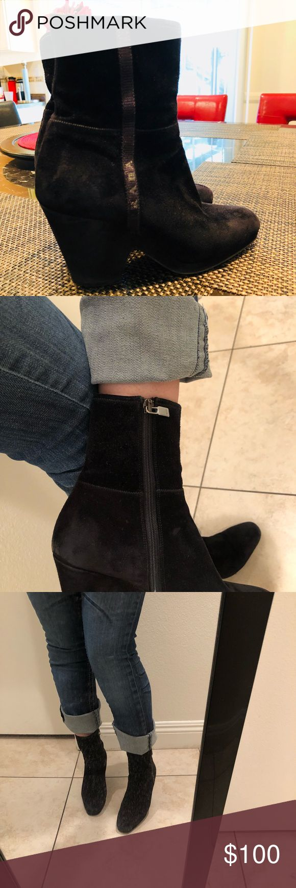 PRADA ANKLE BOOTS 💯Authentic PRADA Boots.  Nice with dress or jeans Prada Shoes Ankle Boots & Booties