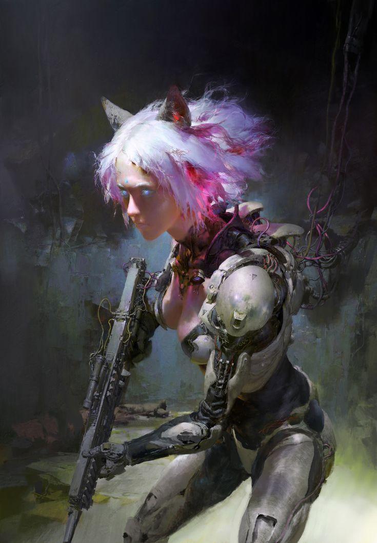 Pink Cat, Ruan Jia on ArtStation at https://www.artstation.com/artwork/730755