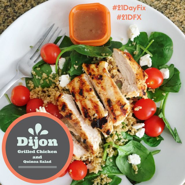 21 Day Fix: Dijon Grilled Chicken and Quinoa Salad | Simply Gourmet in Southie