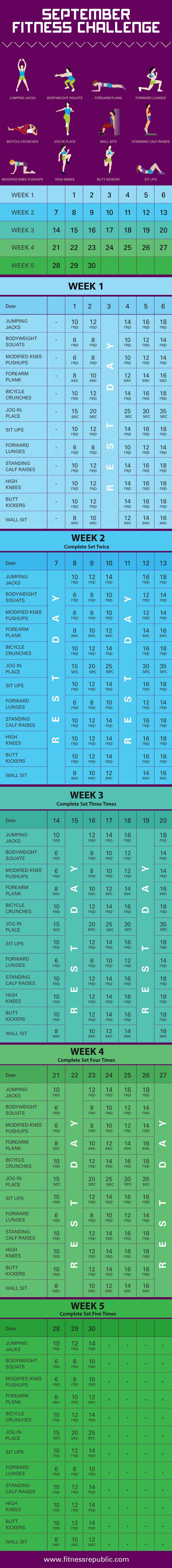 September Fitness Challenge   Fitness Republic
