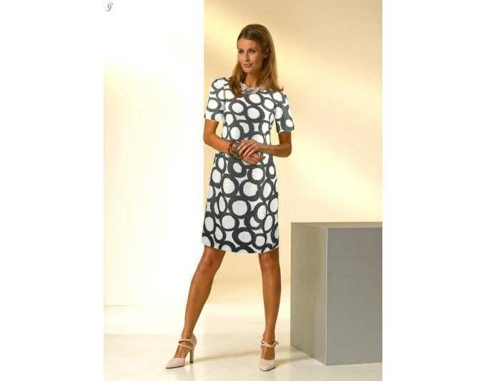 Fee G Damen Designer-Kleid, creme-anthrazit Jetzt bestellen unter: https://mode.ladendirekt.de/damen/bekleidung/kleider/sonstige-kleider/?uid=d78f9748-3d73-54b3-9a90-ce403277d753&utm_source=pinterest&utm_medium=pin&utm_campaign=boards #sonstigekleider #kleider #bekleidung
