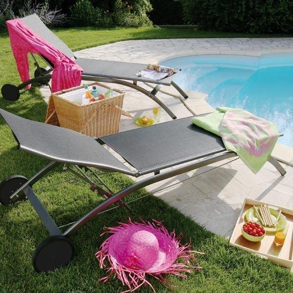 Beautiful Transat Design Grafit #bain #soleil #transat #fauteuil #outdoor #garden #