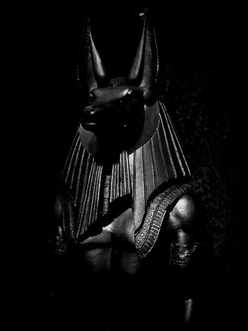 Anubis, jackal-headed god associated with mummification and the afterlife in ancient Egyptian religion.