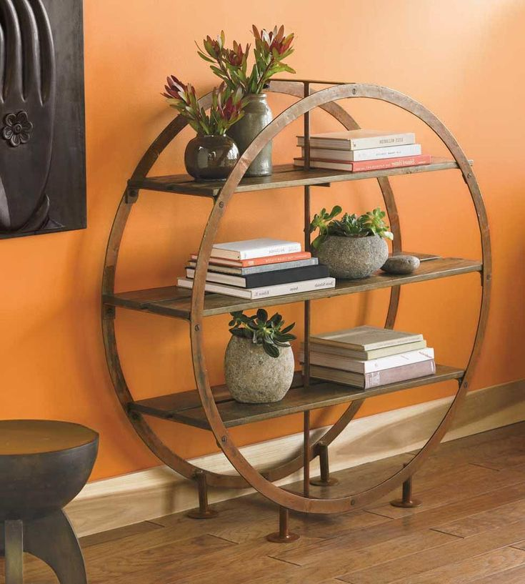 Love The Simple Whimsy Of This Circular Standing Shelves Vivaterra Shelves Furniture