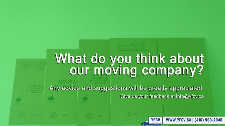 #What do you #think about our #moving company? Any #advice and #suggestions would be greatly appreciated #Give us your #feedback at info@yfcv.ca www.yfcv.ca #Moving #Packing 381 Dundas St E, #Toronto, ON M5A 2A6