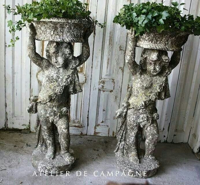 16 Foods That Ll Re Grow From Kitchen Scraps: 49 Best Statuary....Garden Art Images On Pinterest
