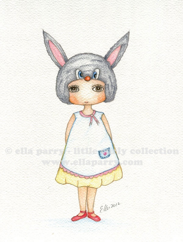 Easter Bunny © ella parry - little curly collection