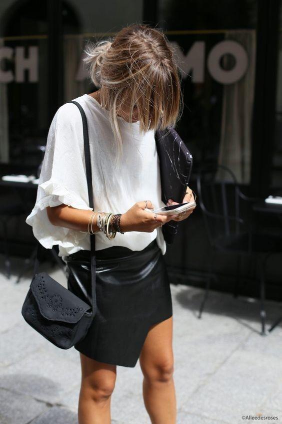 """""""Hoje trago 3 formas descontraídas de utilizar saias de pele que vos vai fazer gostar da ideia de ter uma no vosso armário!""""  https://swki.me/Ipi4BfFv"""