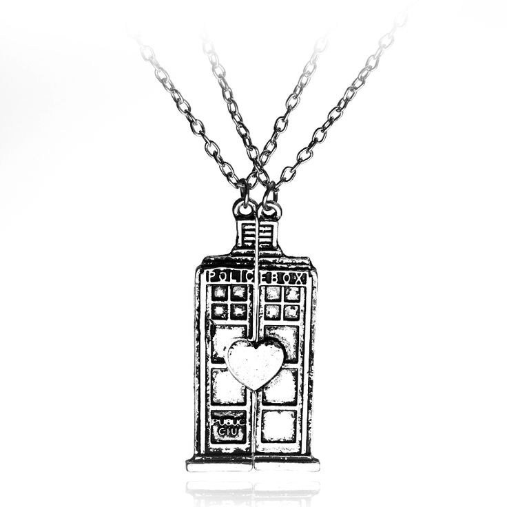 Tardis for two necklace R85