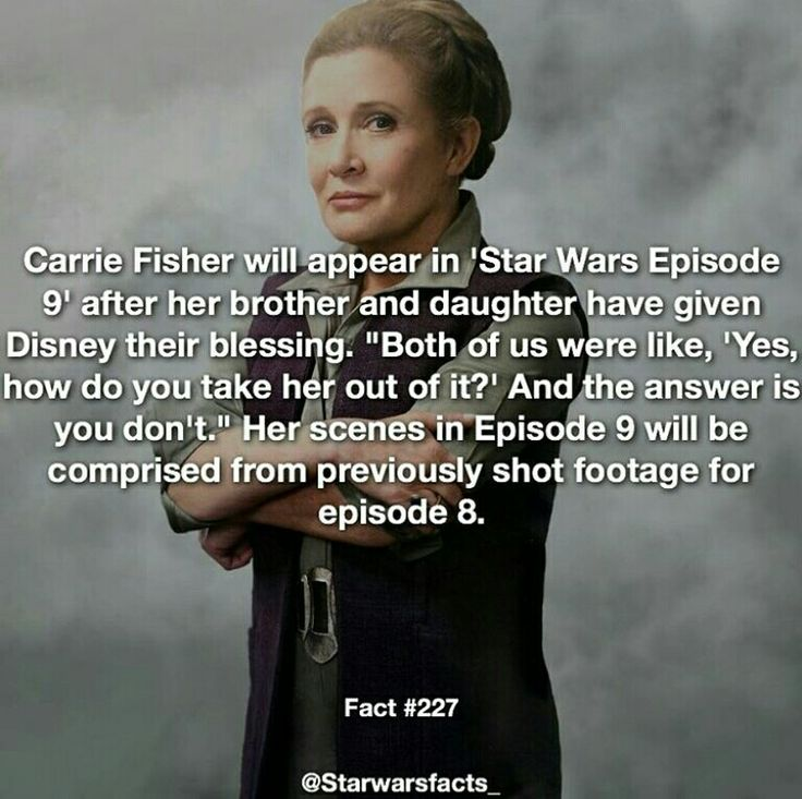 Cool // Star Wars Facts <<< I can't wait to see her final movie. ❤