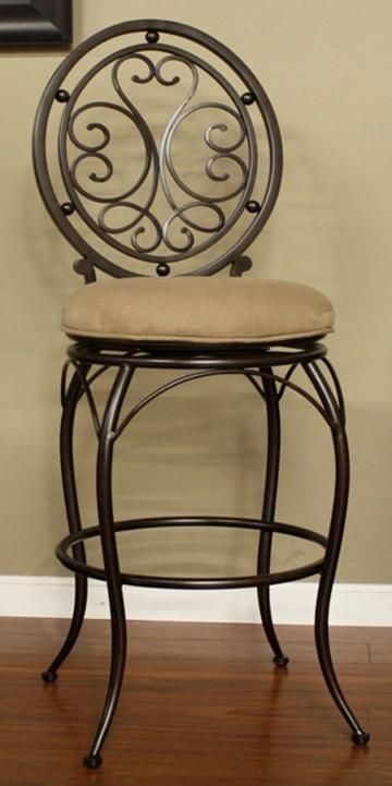 Beautiful hand forged iron barstool! Visit stonecountyironworks.com and let us bring your dream to life!