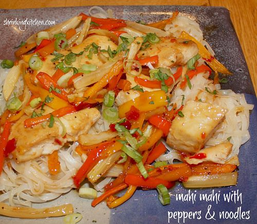 Mahi Mahi with Peppers & Noodles is a deliciously elegant meal and ...