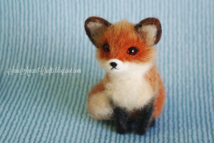 Needle felted red fox by SaniAmani