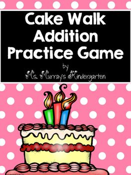 Just print and laminate on card stock. Put the equations on floor in a circle. Put the sums in a bag. Play music and have the students walk around. When the music stops call out a sum. The student with the winning equation wins a cake coupon.Just like the classic carnival game!