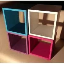 Cubos En Mdf De 15mm. Pintados Y Masillados, Sin Tornillos