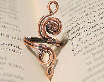 Wire Wrapped anello-rame anello regolabile filo di BeyhanAkman
